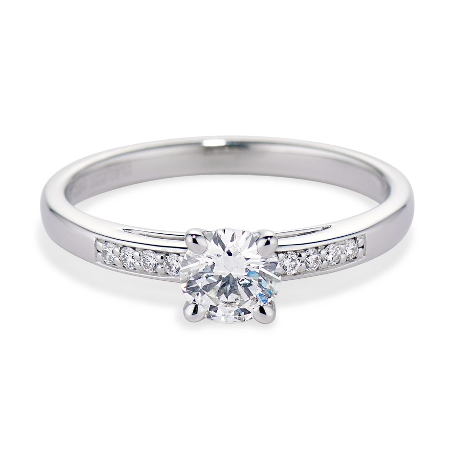 Diamond and White Gold Stella Ring