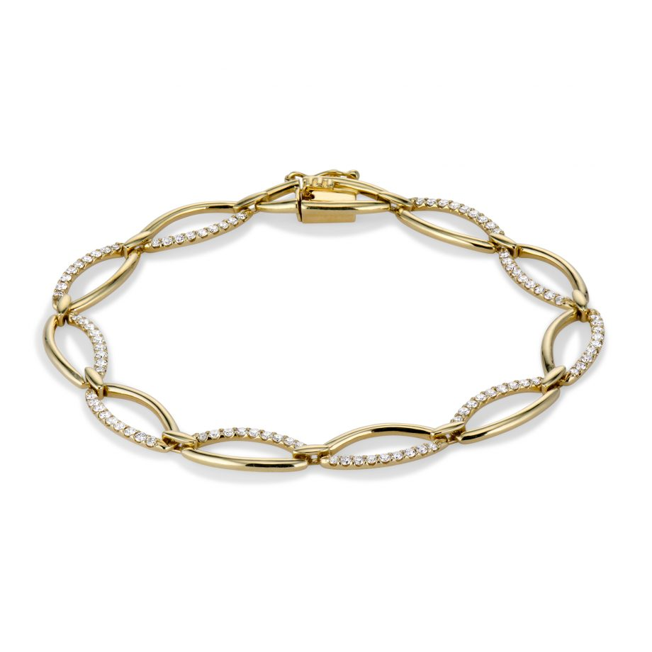 Diamond and Gold Marquis Bracelet