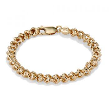 tulip gold chain bracelet