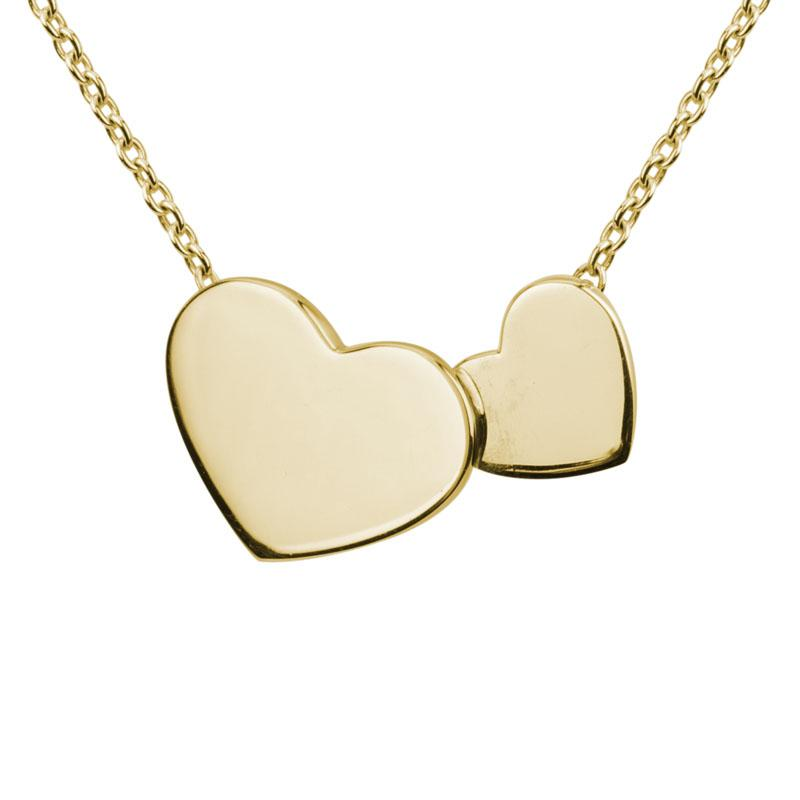 Yellow Gold Double Hearts