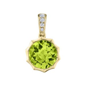 Sunshine Pendant with Peridot and diamonds