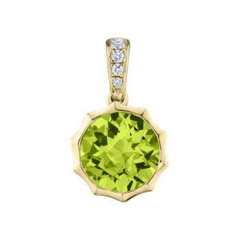 Sunshine Pendant with Peridot and diamonds