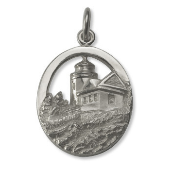 7308 - 264298 - Bass Harbor Lighthouse Charm from our Maine Lighthouse Collection