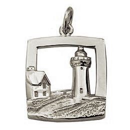7321 - 264302 - Nubble Lighthouse Charm Sterling Silver