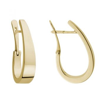 201118 - Tapered Hoops in Yellow Gold