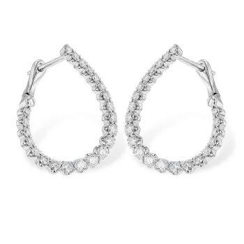 diamond curvy hoops