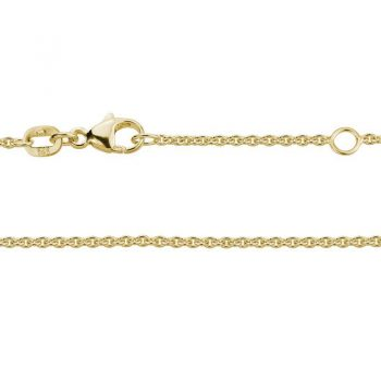 1.2mm yellow gold adjustable cable chain