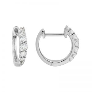 graduated Diamond Huggie Hoops 101262