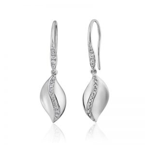 solstice white gold and diamond dangles