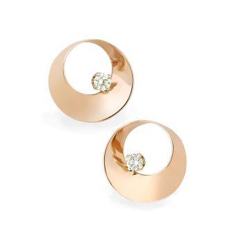 Mobius Twist Earrings - Brown Goldsmiths