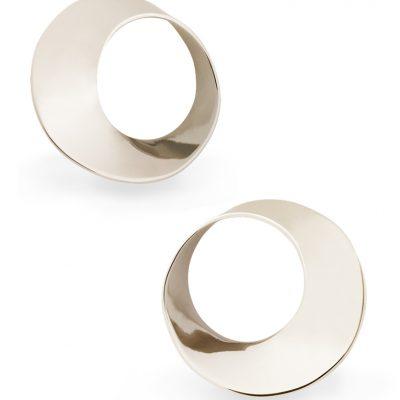 Mobius Twist white gold stud earrings 10.5mm