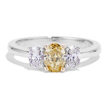 Natural Oval Yellow Diamond