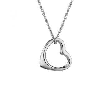 Open Heart Necklace Sterling Silver 265665
