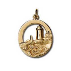 Y-287 - 230669 - Pemaquid Point Lighthouse 14k yellow gold