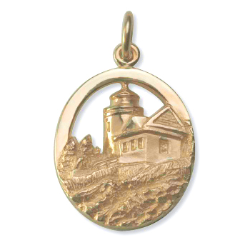 Y-294 - 230670 - Bass Harbor Lighthouse Charm from our Maine Lighthouse Collection