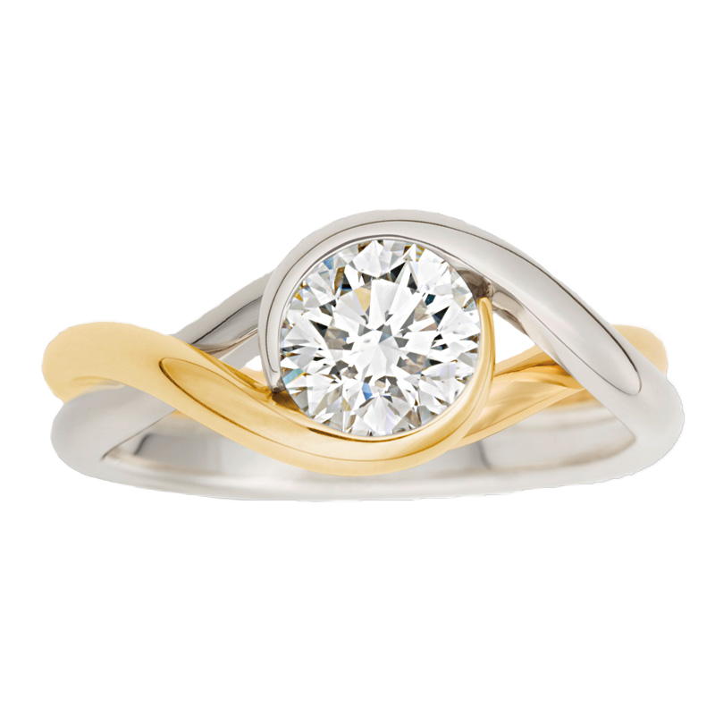 010553 - Two Tone Embrace Ring