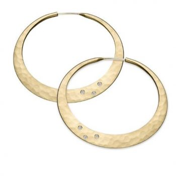 Twilight Diamond Hoop Earrings