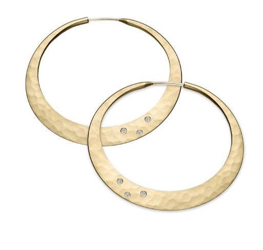 Twilight Diamond Hoop Earrings