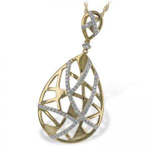 Two tone diamond pendant necklace n7935 101268