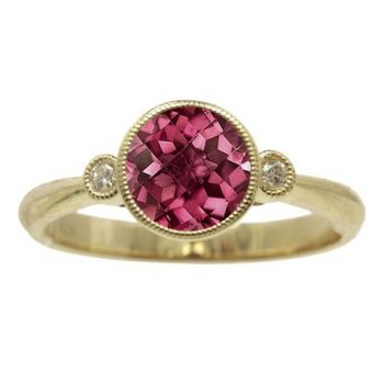 170568 - 72210-RRH - Rhodolite and Diamond Ring in Yellow Gold