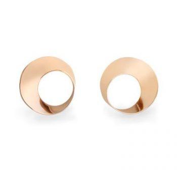 200582 - Möbius Twist Earrings © 14K Rose Gold