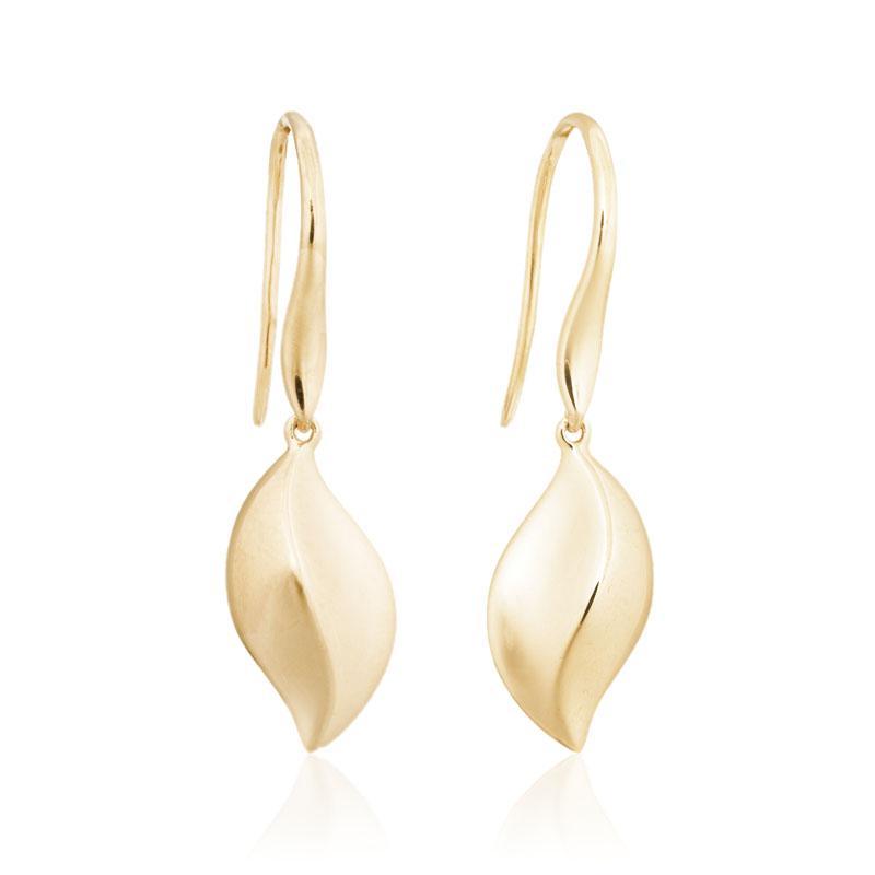 Solstice dangle earrings 14k yellow gold
