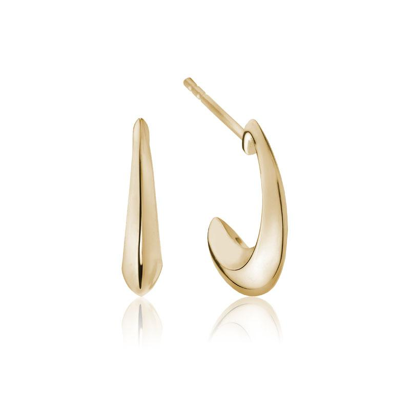 Juniper hoop earrings 14k yellow gold