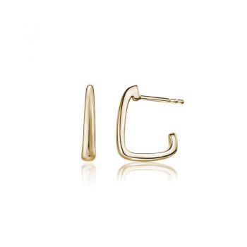Artichoke tapered hoop earring 14K yellow gold