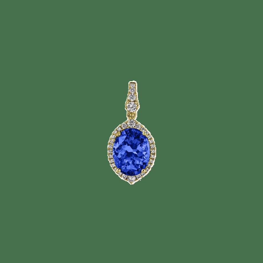 140952 - Blue Sapphire and Diamond Pendant