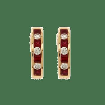 393303 - Ruby Huggie Hoop Earrings