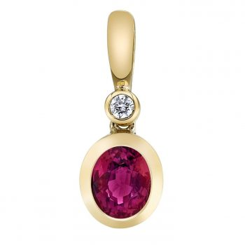 140955 - Ruby and Diamond Pendant