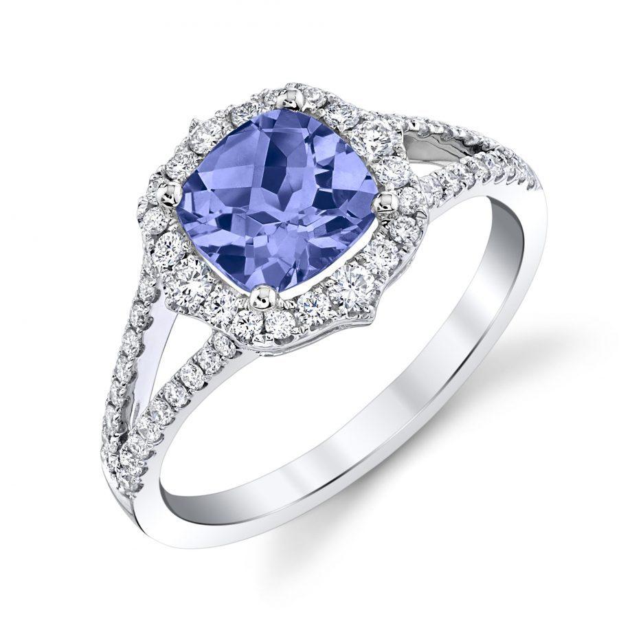 160523 - Tanzanite and Diamond Ring