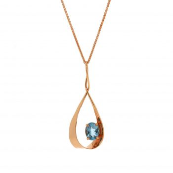393001 - Handmade Aqumarine Teardrop Pendant