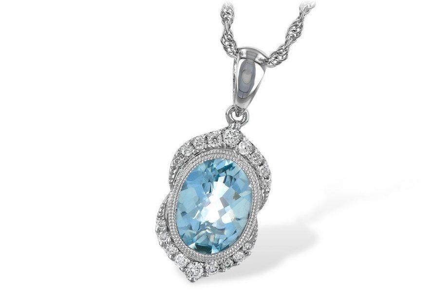 393554 - aquamarine necklace
