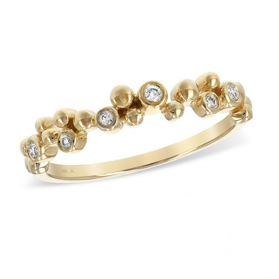 Bubble Ring in yellow gold with diamonds