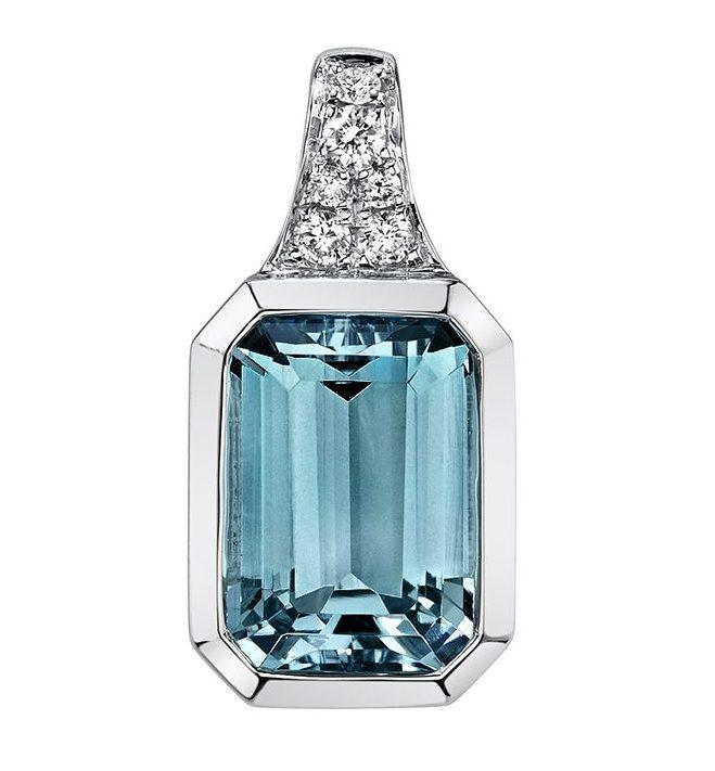 393773 - Aquamarine White Gold Pendant