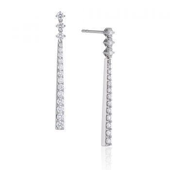 091471 - f10-e901 - Diamond Stick Earrings