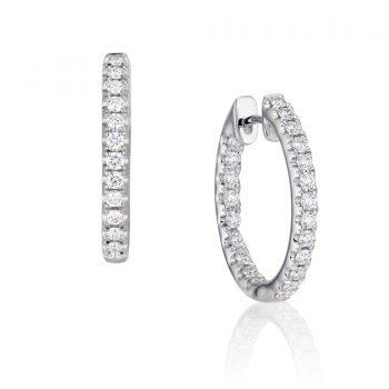 091472 - F10-E803 14K - Diamond Earring Hoops