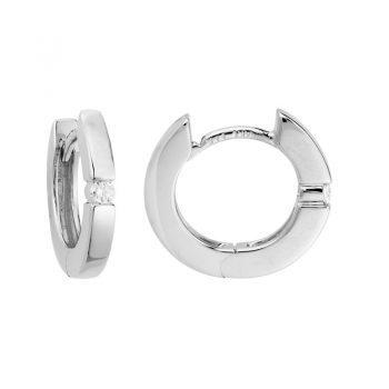 101059 - GEK18TI07WH - Hinged Earrings with Diamonds