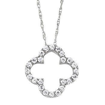 101092 - Four Leaf Clover Diamond Pendant