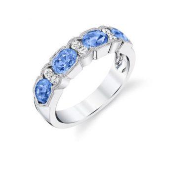 120666 - 31651-RPBS - Pastel Blue Sapphire and Diamond Ring