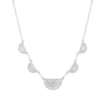 265267 - Divided Collar Half Moon Necklace
