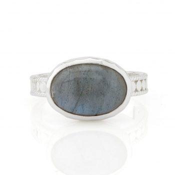 265527 - Oval Labradorite Ring