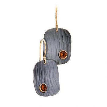 265562 - Fire Opal Metolius Crest Earrings