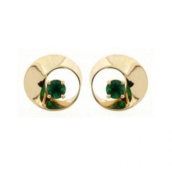 393560 - PE-MOB-TSAV - Tsavorite Mobius Stud Earrings