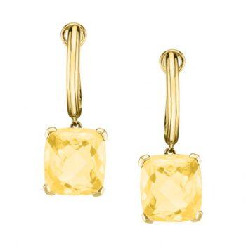 393626 - 10920-HLC - Light Citrine Huggie Earrings