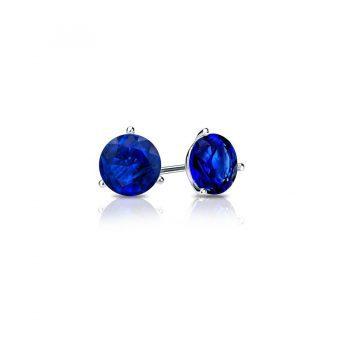 393660 - PE-BLSAP-4.6mm - Sapphire Stud Earrings