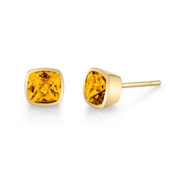 393686 - 32010-5-ECI - Citrine Stud Earrings