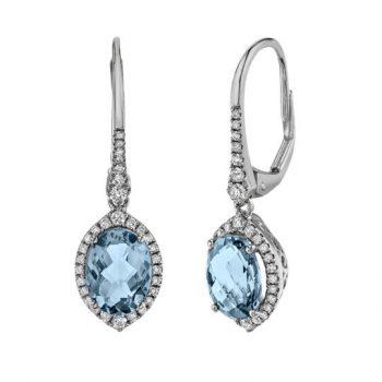 18491-LEAQ - 393617 - Aquamarine Dangle Earrings