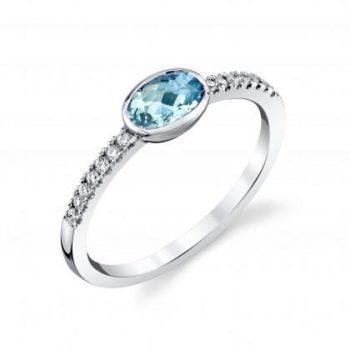 20711-RAQ - 170547 - Aquamarine and Diamond Ring